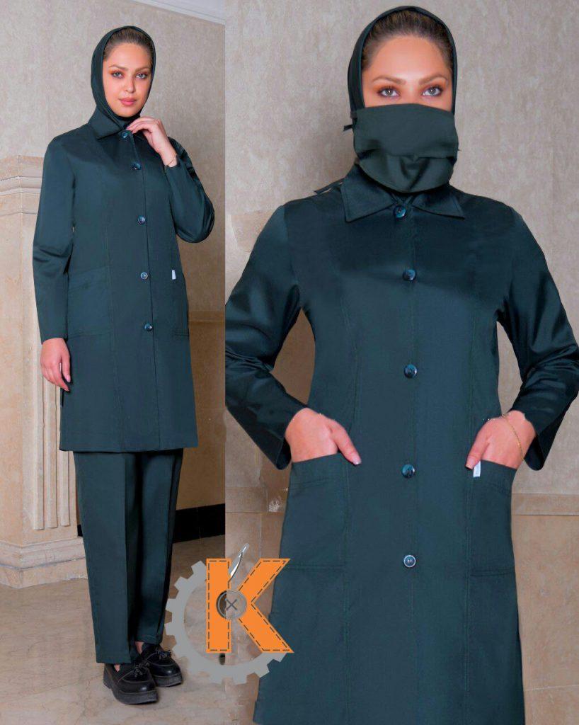 آشنائی با نحوه تولید لباس بیمارستانی با بهترین کیفیت ست اتاق عمل زنانه kp90225