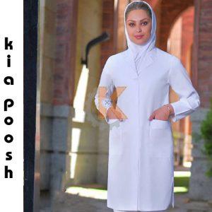 روپوش و مانتو پزشکی مدل ژاله kp32206 | روپوش پزشکی سایز بزرگ روپوش پزشکی طرح دار روپوش پزشکی کیمیا روپوش پزشکی زنانه رنگی روپوش پزشکی گلدا